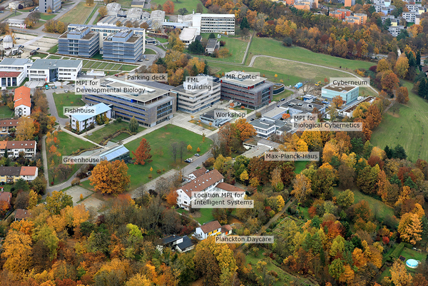 Fig. 6: Tübingen Max Planck Campus in autumn 2011.